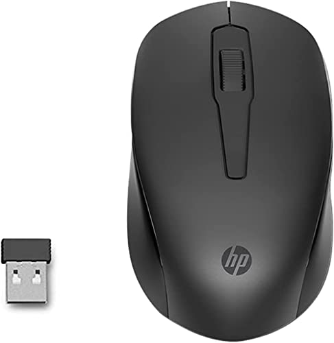 HP 150 Truly Ambidextrous Wireless Mouse, 2.4 GHz, 1600 DPI Optical Tracking, 12 Month Life Battery, Compatible with ...