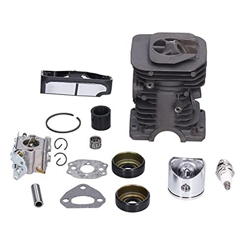 GAESHOW, Juego de filtros de Aire de carburador de pistón de Cilindro de 40 mm, Repuesto para Motosierra Husqvarna 136, 137, 141, 142
