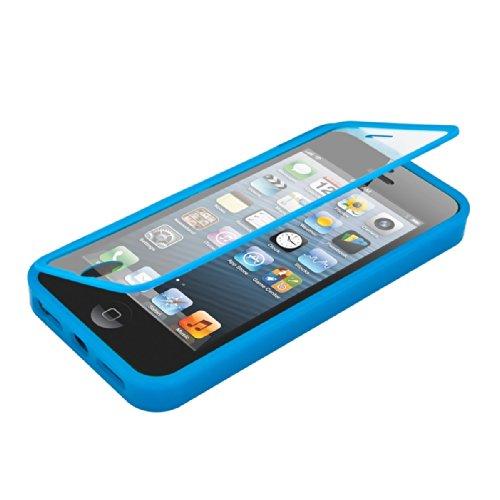 kwmobile Silikon Hülle kompatibel mit Apple iPhone SE (1.Gen 2016) / 5 / 5S - Komplett Cover Schutzhülle Case in Hellblau