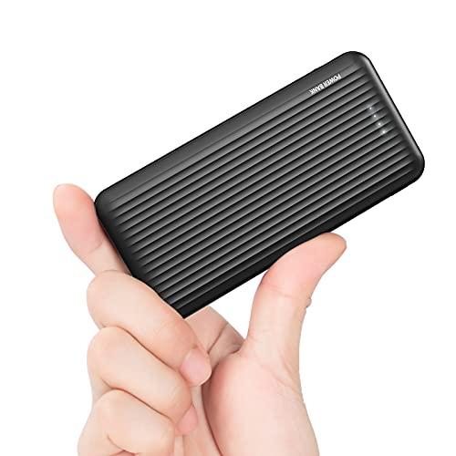 undreem Power Bank, 18W Powerbank 10000mAh con Due 3A USB C A Output, Ultra Sottile Caricabatterie Portatile Carica Rapida, 3-Uscite & 2-Ingresso Batteria Esterna, Powerbank per iPhone, iPad, Samsung