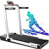 ANCHEER Treadmill,2-in-1 Folding Treadmill for Home,Electric Under-Desk Treadmill with App & Remote Control, LED Display, Indoor Walking Running Exercise Machine Simple Assembly