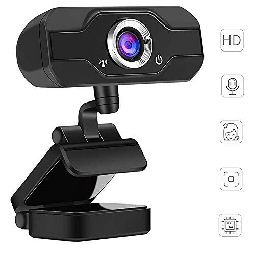 PC webcam, 1080p Full HD met microfoon met groot scherm, USB desktop en laptop webcam, 90 graden geavanceerde weergave, 360 graden draaibare draaihoek voor videotelefonie
