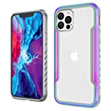 Zapdaz Compatible with iPhone 12 Case,iPhone 12 Pro Case,Shockproof Phone Case TPU & Metal Rugged Bumper,Tough Clear Back Anti Scratch [Military Grade Drop Protective Cover] Armor for 6.1 inch (2020)