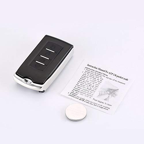 CNmuca DH-CL20 Mini LCD Eletrônico Digital Pocket Scale Car Key Shape Jóia Weighting Scale Gram Balance Weight Scale preta 100g / 0,01g