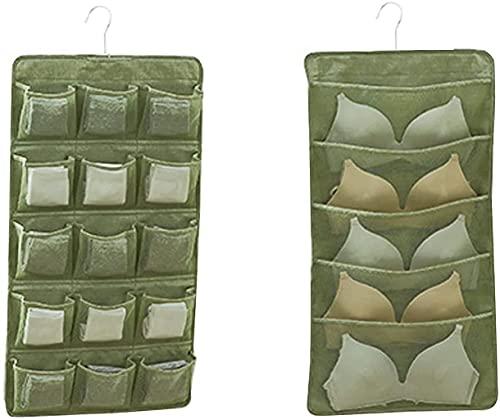 Torey Perchero para colgar ropa interior, bolsa de almacenamiento, accesorios sujetadores, calcetines, bolsa de almacenamiento de encaje para guardar ropa, tela Oxford (verde)