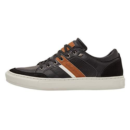 British Knights Herren Cove Sneaker, Schwarz (Black/Cognac 02), 45 EU