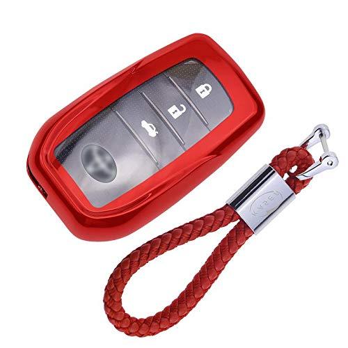 Funda de Silicona para Llave Toyota Keyless – Cover Carcasa de TPU Cromo Suave...