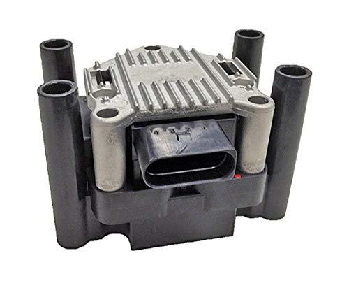 HELLA 5DA 358 000-171 Zündspule - 12V - 4-polig - Blockzündspule - geschraubt