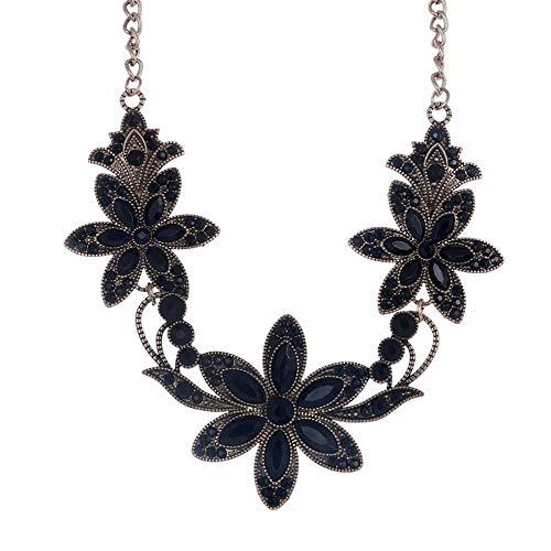 LFNSTXT Moda Gargantilla Collar Llamativo Mujeres Colgantes Oro Plata Cadena Vintage Joyería-B