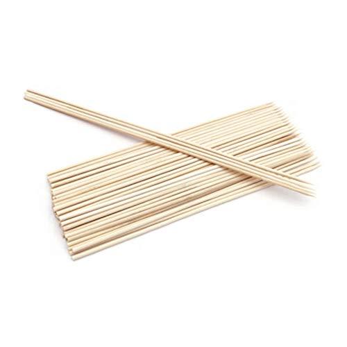 ypypiaol 50/100 Unids Desechable Barbacoa Barbacoa Brochetas De Bambú Carne Comida Albóndigas Palos De Madera Esencial 1# 4mm * 40cm