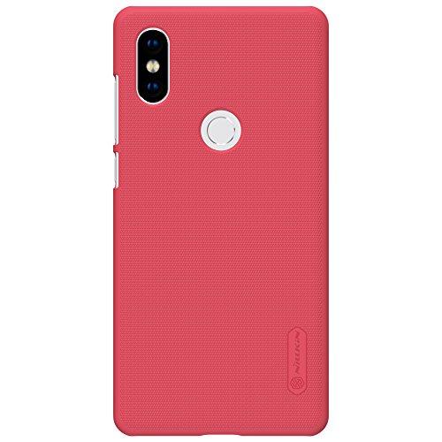 Funda® Firmness Smartphone Funda Carcasa Case Cover Caso + 1 Pantalla Protector para Xiaomi Mi MIX 2S(Rojo)