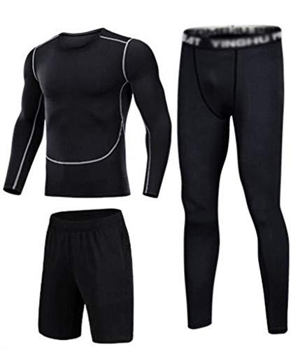 Traje Deportivo Masculino, Secado rápido, Entrenamiento Deportivo, Pantalones Deportivos, Traje, Traje Deportivo de Noche y mañana. (Color : H, Size : M)