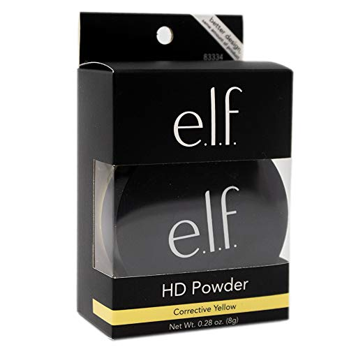 Pack of 2 e.l.f. High Definition Powder, Corrective Yellow, 83334