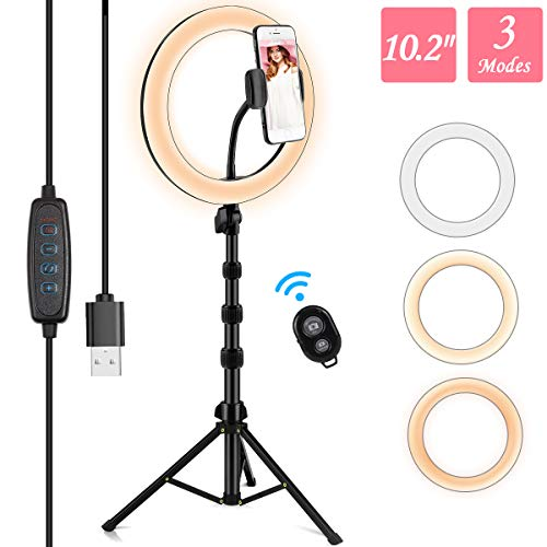 Ring Light with Stand and Phone Holder,10.2