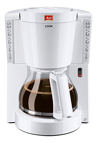 Melitta 1011-01 Look Kaffeefiltermaschine -Tropfstopp - Glaskanne weiß