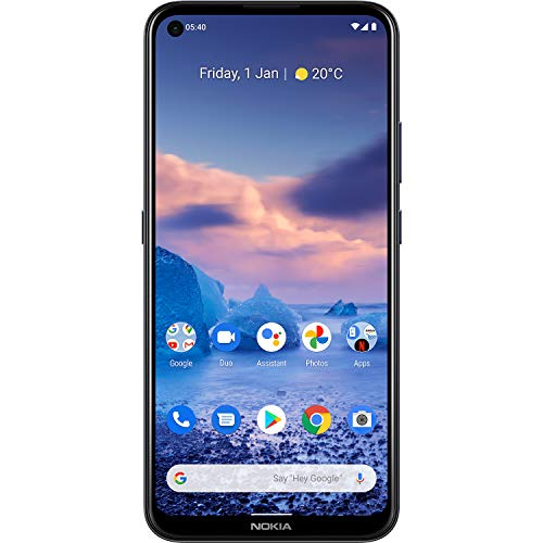 "Nokia 5.4 Smartphone with a 6.39"" HD+ Screen, 48MP Quad Camera, Qualcomm Snapdragon 662, 2-Day Battery and Android Upgrades in Polar Night, Dual SIM, 4/128 GB (AT&T/T-Mobile/Cricket/Tracfone/Mint)"