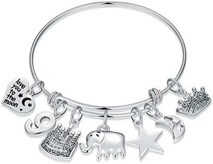 M MOOHAM 9th Birthday Gifts for Girls Bracelet 9 Year Old Girls Gifts 9th Birthday Charm Bracelet product image