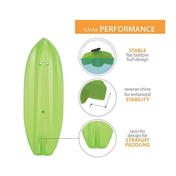 Lifetime Youth 6 Feet Wave Kayak with Paddle 5 Perfect for Kids of All Ages Molded Finger Handles on Each Side of Kayak Swim-Up Step