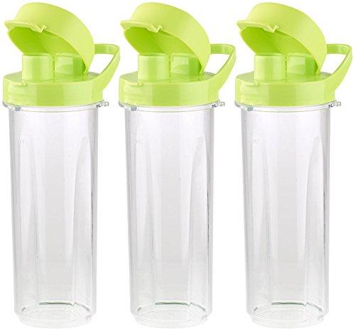 Rosenstein & Söhne Zubehör zu Universalmixer: Mix- & Trinkbecher für Smoothiemixer BR-500, 500 ml, BPA-frei, 3er-Set (Smoothie Maker)