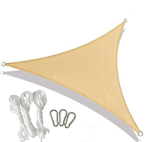 MaxxGarden - Toldo triangular (3,6 m x 3,6 m), color crema