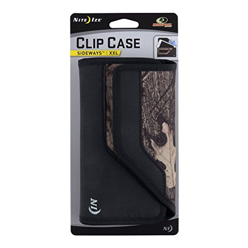 Nite Ize Clip Case Sideways Phone Holster - Protective, Clippable Phone Holder For Your Belt Or Waistband - XX Large - Mossy Oak