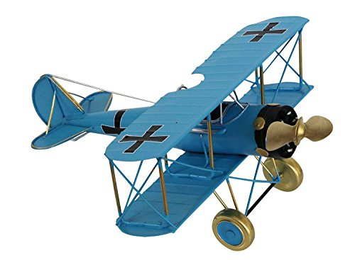 aubaho Doppeldecker Modellflugzeug Flugzeugmodell Flugzeug Metall Antik-Stil
