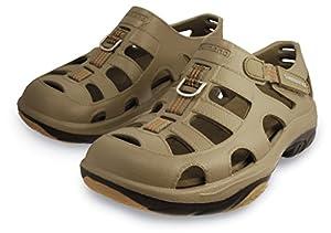 SHIMANO Evair Marine Fishing Shoes, Size 08, Khaki/Black