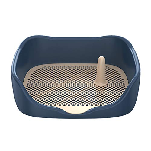 ADASP Lettiere per Cani Vaso per vaschette per vaschette per Cani con Supporto per pipì per Animali Domestici per Interni con Parete di Simulazione per Protezione Post pipì