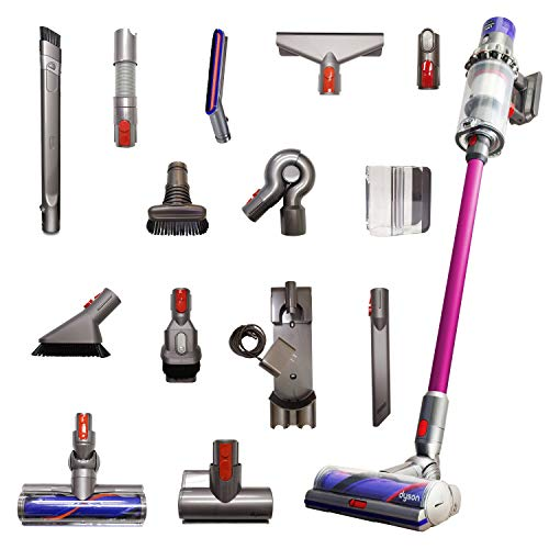 Dyson Cyclone V10 Animal Pro with 15 Tools Including Torque Drive Cleaner Head, Mini Motorized Tool, Clean Everywhere Kit, Lightweight Cordless Stick Vacuum Cleaner Cord-Free Powerful Suction, Fuchsia