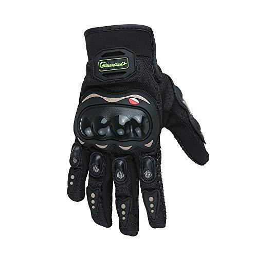 Jurenay Neue Motorrad Motocross Sommer Fiber Bike Racing Handschuhe Pro-Biker Motorrad (Color : Schwarz, Size : L)