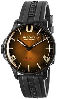 U-Boat - darkmoon 8699 Reloj para Hombre Analógico de Cuarzo con Brazalete de Goma 8699