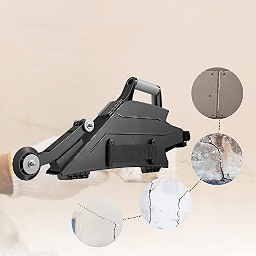 Kacsoo Drywall Banjo Taping Tool Herramienta para juntas de paneles de yeso Uso multifuncional, herramientas dobles para paneles de yeso para diestros, negro