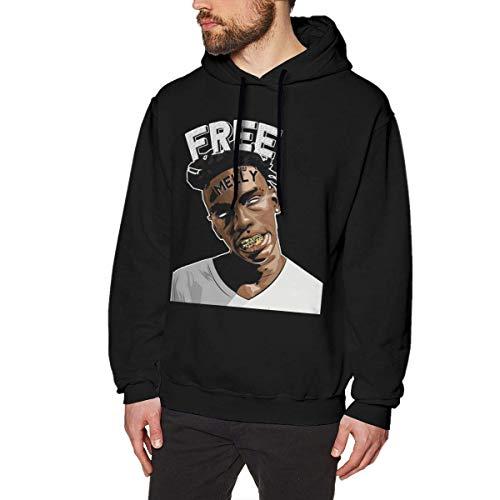Ytdbh Felpe con Cappuccio Uomo, Men's Hoodie Sweatshirt YNW-Melly Cotton Sweater Black