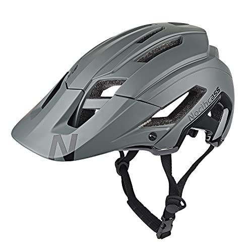 Fahrradhelm für Erwachsenae Damen Herren, Radfahren Helm MTB Montainbike Helm mit Sonnenblende für Frauen Männer 56-61 cm (22-24 inch) Grau