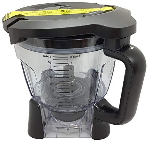 Ninja 64oz (8 Cup) Food Processor Bowl with Locking Lid Only for BL640 BL641 BL642 BL642W BL642W1 BL642Z BL680 BL680A BL681A BL682 Blender