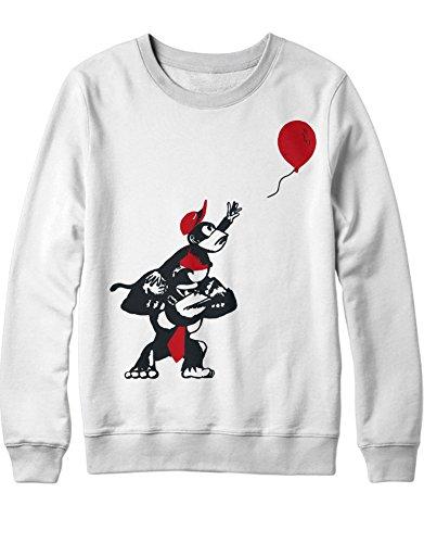 Sweatshirt Donkey Kong and Diddy Kong Balloon H100026 Blanco M