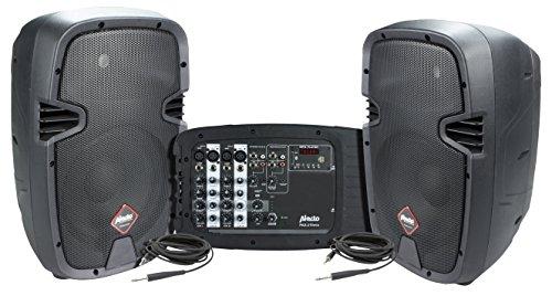 Alecto PAS-210 luidsprekerset met 6-kanaals mixer (50 watt RMS)
