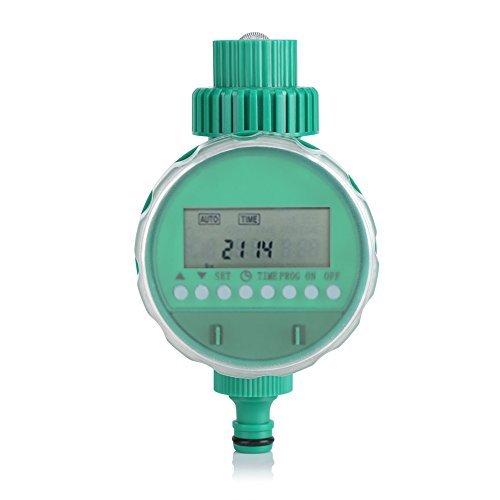 散水タイマー 自動水やり タイマー 自動式 電子制御タイマー ドリップ 節水 灌漑 水やり 芝生 鉢植え 家庭園芸 26.5mmネジ付きの21mmタップ水道に接続 1/2インチ (#2)