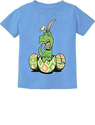 T-Rex Bunny Easter Egg Funny Gift for Easter Toddler/Infant Kids T-Shirt 3T California Blue