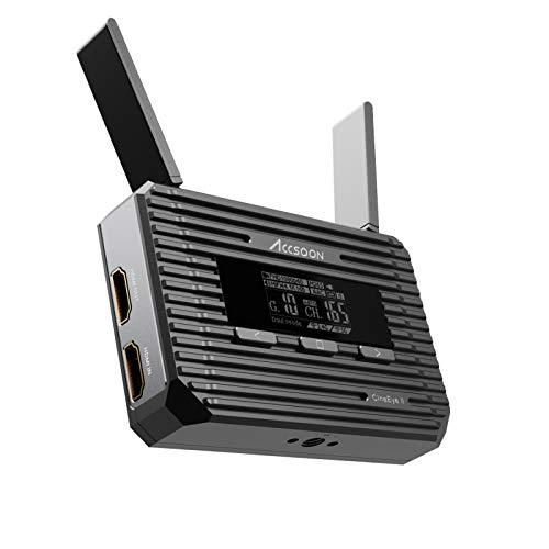 ACCSOON CineEye 2 - Trasmettitore wireless Ultra Low Delay HDMI Loop Out Live, un trasmettitore e quattro ricevitori, 1080p60fps, controllo fotocamera, portata di trasmissione 150 m