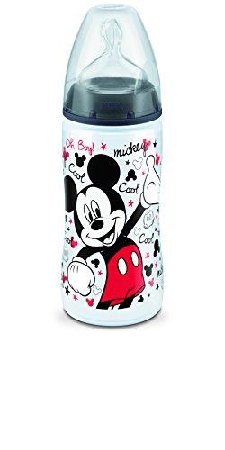 Nuk Trinkflasche mit Saugnapf in Größe 2, Motiv: Disney Micky Maus, 300ml
