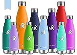 KollyKolla Bottiglia Acqua in Acciaio Inox, 350ml Senza BPA Borraccia Termica, Isolamento Sottovuoto...