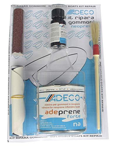 Adeco rubberboot reparatieset 2 componenten neopreen voor rubberboot