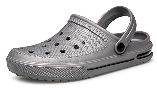 YHOON Unisex Clogs Shoes | Water Shoes | Slip Resistant Work Shoes Slate Grey