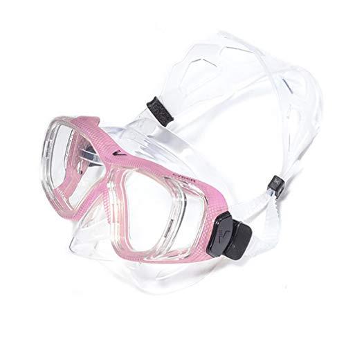 ALYR Ajustable Gafas de Buceo, Máscara de Buceo Anti-Fuga Gafas Snorkel Snorkeling Máscara Vista panorámica Vidrio Templado Snorkel Máscara Mascara Buceo para la natación y el Buceo,Pink
