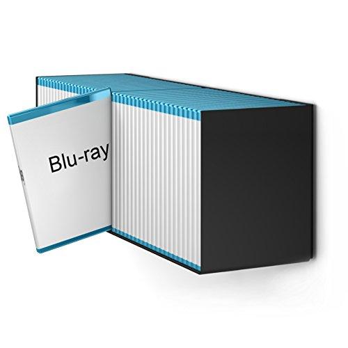 home3000 Estantería de diseño Blu-Ray en color negro.