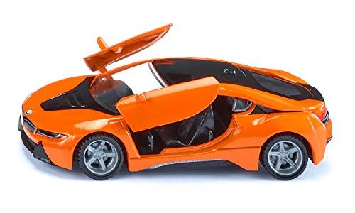 siku 2348, BMW i8 LCI, Orange/Schwarz, Metall/Kunststoff, 1:50, Öffenbare Türen, Abnehmbare Reifen