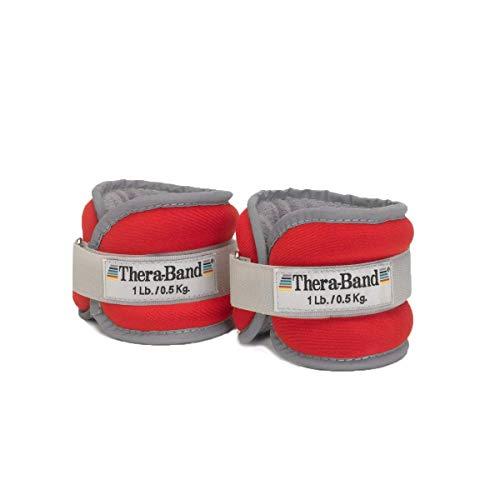 Theraband - Handgelenkmanschetten für Krafttraining in Rot, Größe je 450 g, rot