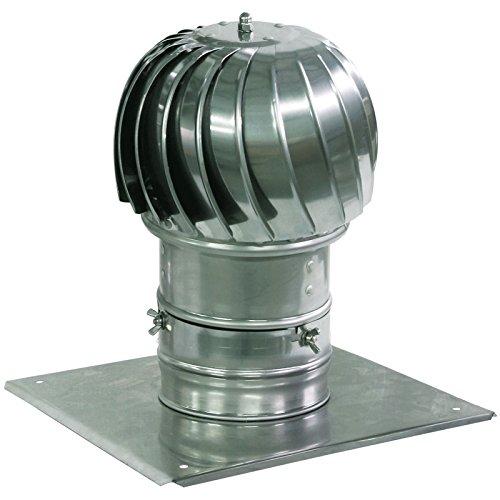 la ventilazione di scarico in alluminio fumaria cappuccio di filatura con tetto in più piatto 130 millimetri
