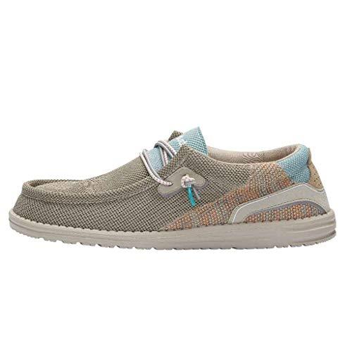 Hey Dude Wally Hawk - Zapatos casuales para hombre, ligeros, cómodos, plantilla ergonómica de espuma viscoelástica, diseñados en Italia y California, color, talla 39 1/3 EU